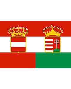 Flag: Civil Ensign of Austria-Hungary 1869—1918