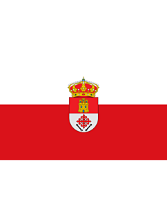 Flag: Abenójar, in Ciudad Real province, Spain