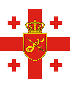 Flag: Georgia. Standard of Minister of Defence