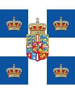 Flag: Royal Standard of the Kingdom of Greece  1936-1967 | Royal Standard of the Kingdom of Greece