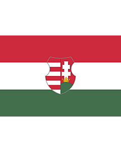 Flag: Hungary from mid/late 1946 to 20 August 1949 and from 12 November 1956 to 23 May 1957