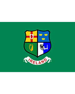 Flag: Ireland hockey team | Field hockey team of Ireland  Four Provinces coat of arms -- Ulster