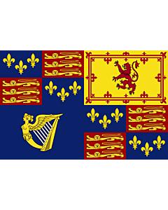 Flag: Royal Standard of Great Britain  1603-1649, 1660-1689, 1702-1707