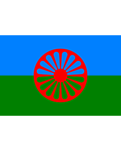 Flag: Romani people | Romani people, made using these dimensions