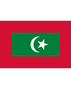 Flag: Presidential standard of the Maldives