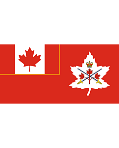 Flag: Canadian Army, adopted in 14 July 2016
