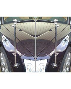 Pair  Original AUDI Car Flag for AUDI executive luxury car