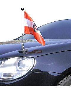 Magnetic Car Flag Pole Diplomat-1.30 Austria with coat of arms