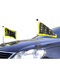Pair  Magnetic Car Flag Pole Diplomat-1 with customized printed flag